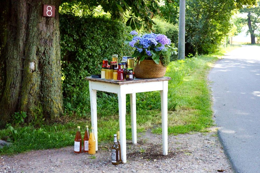 Honig Saft Tisch Straße