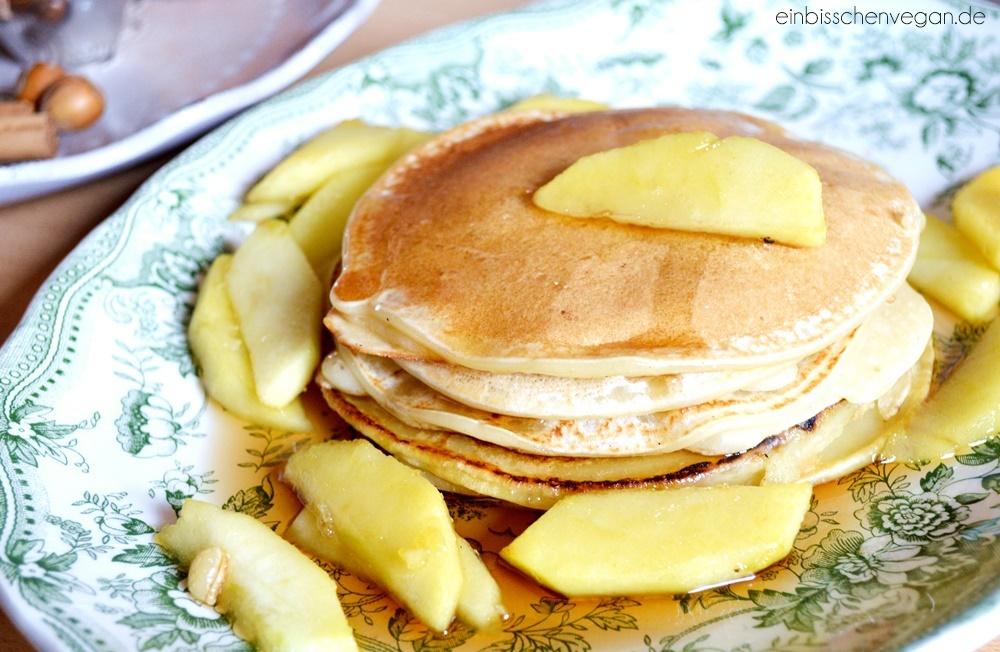 Vegane Pancakes ein bisschen vegan