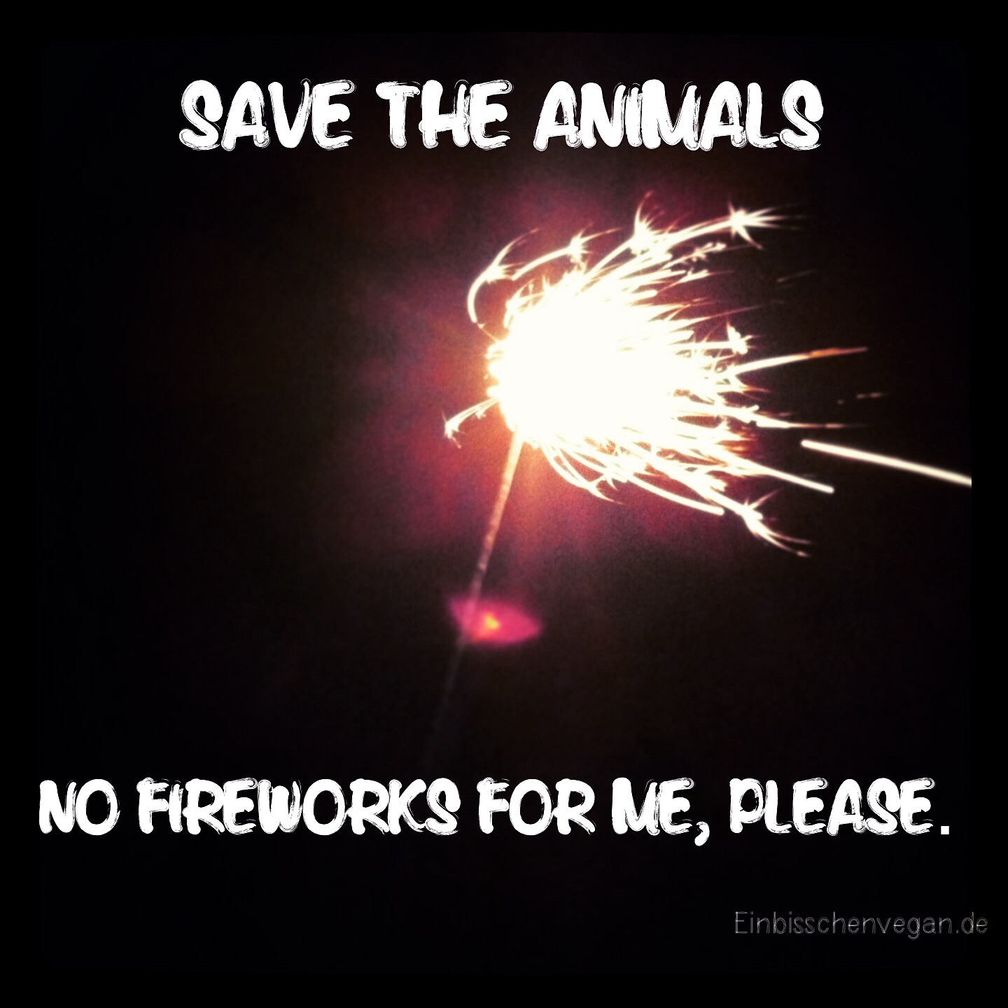 No fireworks vegan animals