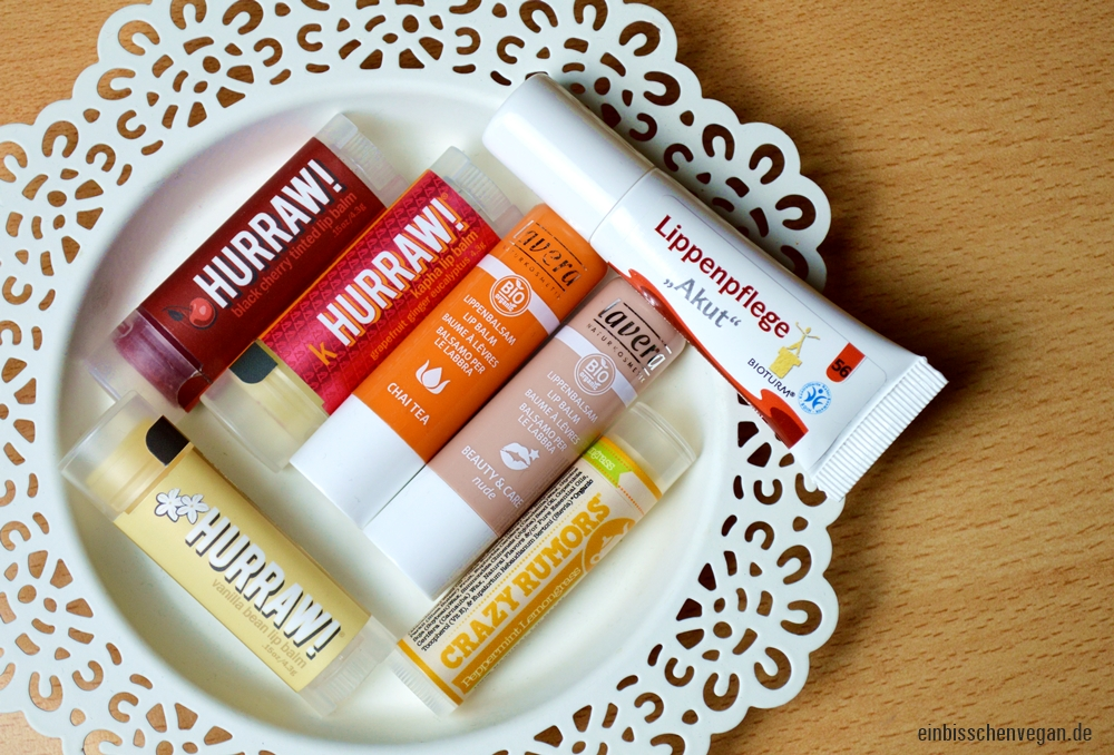 Vegane Lippenpflege Favoriten