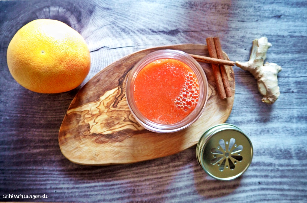 Hot Grapefruit Toddy vegan Rezept