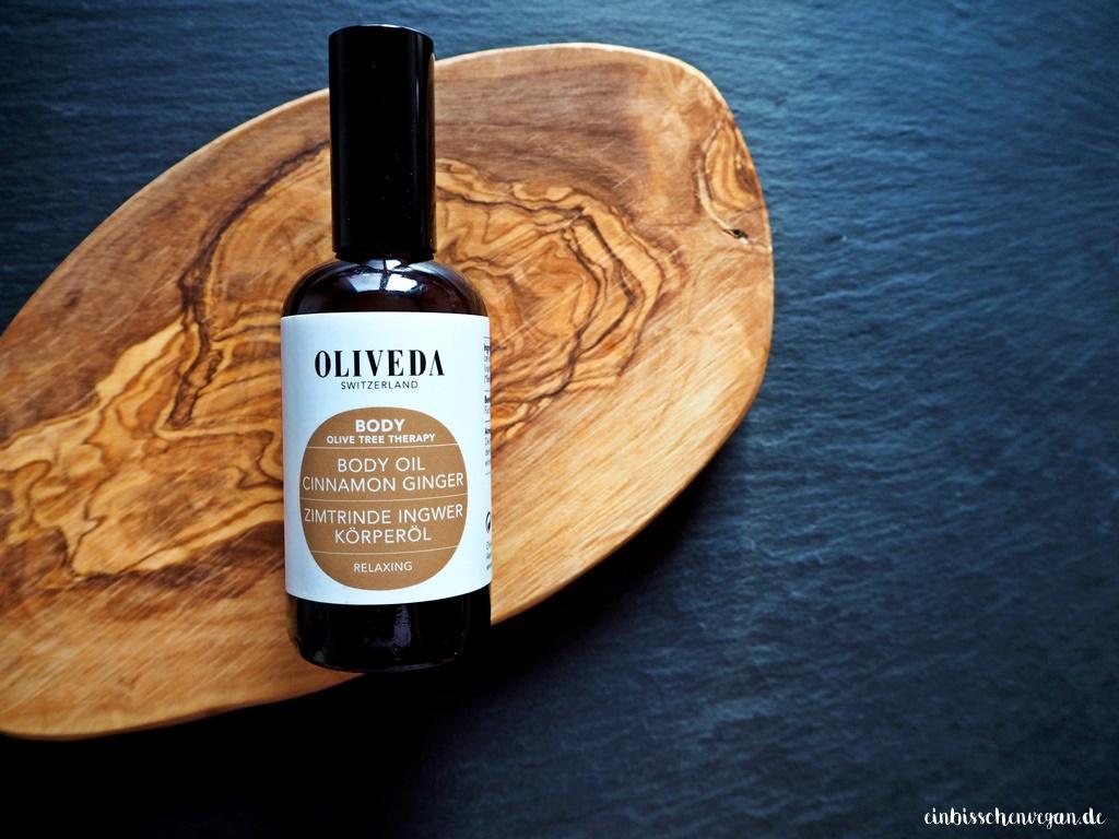 vegan Zimtrinde Ingwer Oliveda Körperöl