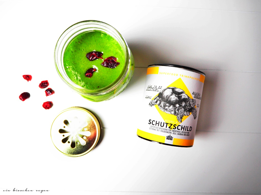 Smoothie Cranberries Spinat Mango Kokoswasser