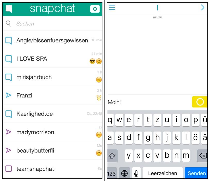 Snapchat Tutorial Chat ein bisschen vegan