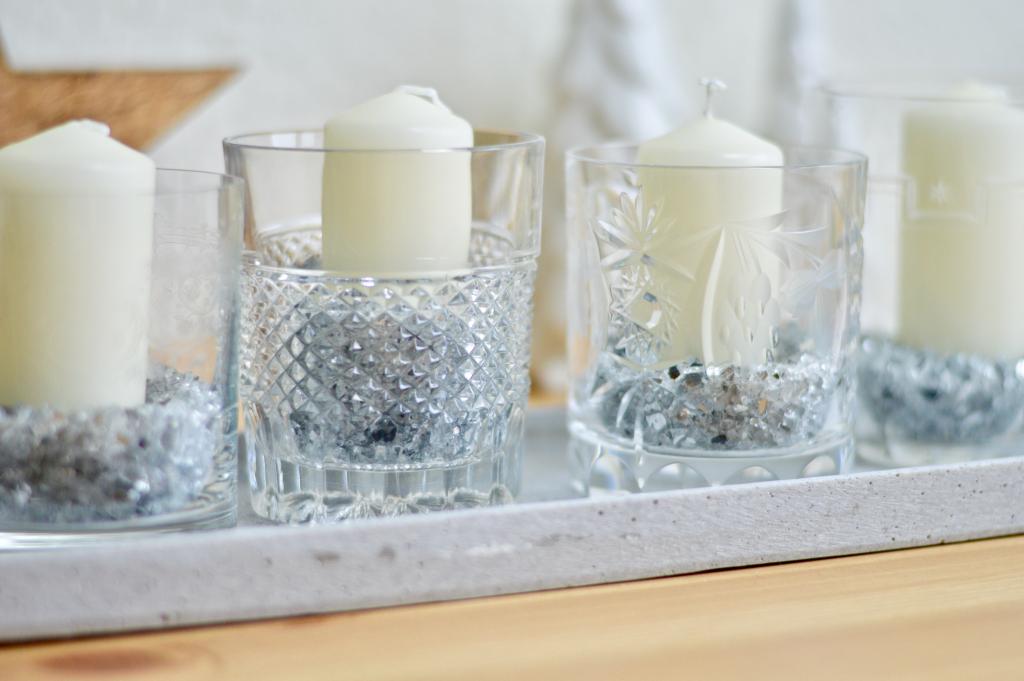 Adventskranz Vintage Gläser