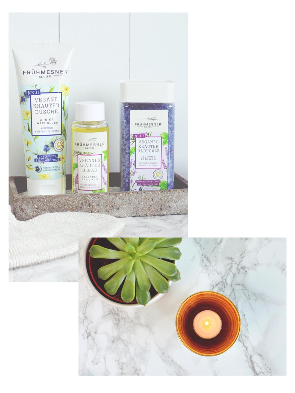Vegane Produkte Home Spa mit Frühmesner