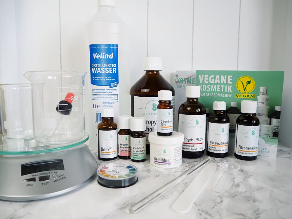 vegane Kosmetik selber machen mit Spinnrad