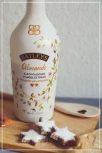 Vegane Zimtsterne mit Baileys Almande