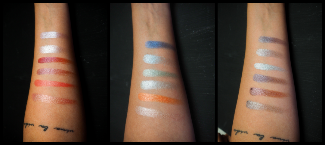 Galaxy Chic Palette bh cosmetics Swatches