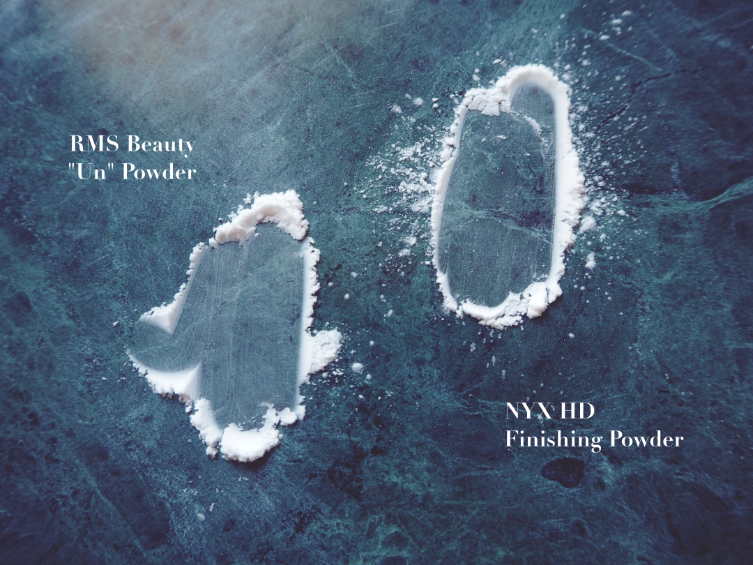 NYX Studio HD Finishing Powder und RMS Un Powder im Vergleich