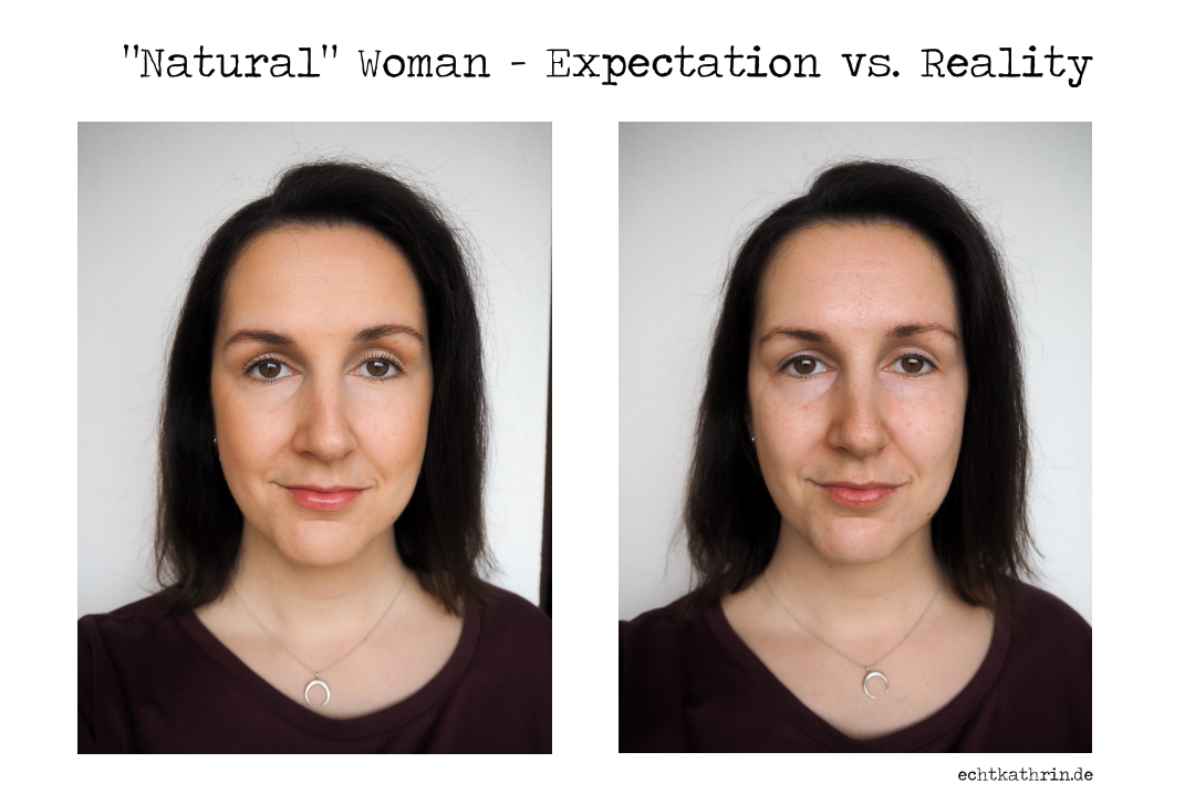 Woman without MakeUp vs No MakeUp Look