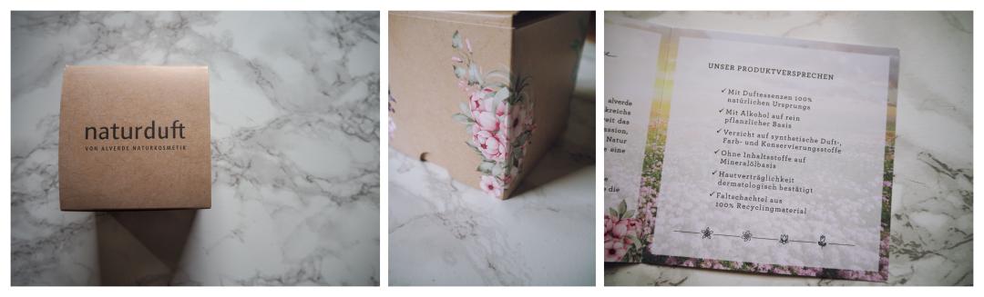 Das PR Packaging der Naturparfums von Alverde