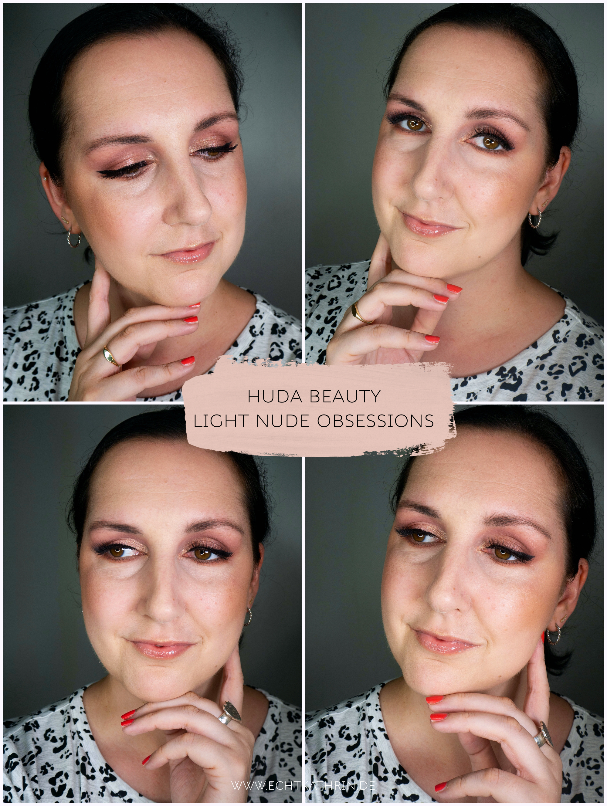 Huda Beauty Light Nude Obsessions Look echtkathrin