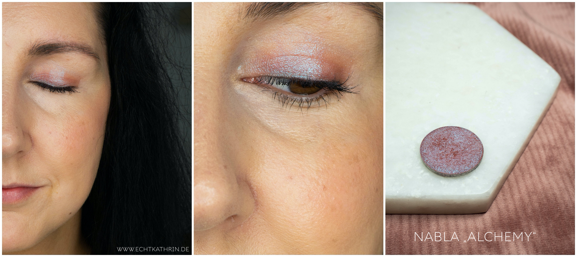 one and done eyeshadow look nabla alchemy review